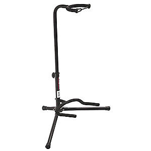 OnStage XCG4 Black Tripod Guitar Stand, Single Stand, New!