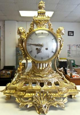 Magnificent Huge Antique 19thc French Solid Gilt Bronze Palace Mantel/TableClock