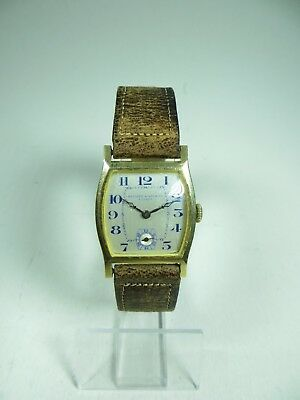 Record Watch Co. Geneve Armbanduhr-Art Deco 1917-18 K Gold-Selten-Art. 4767