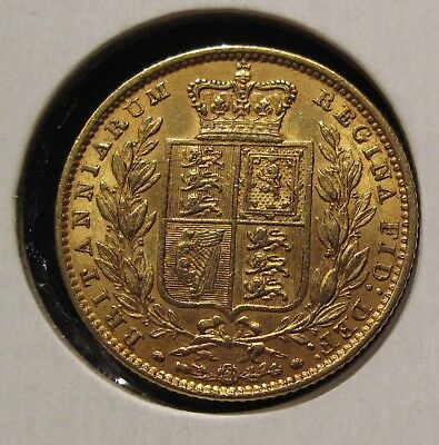 Great Britain 1851 FULL GOLD SOVEREIGN COIN QUEEN VICTORIA SHIELD RARE
