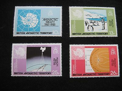 British Antarctic Territory: 1981 20th Anniv of Antarctic Treaty, unmounted mint