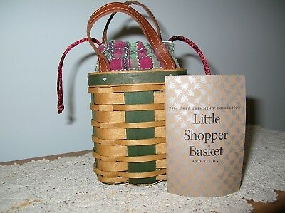 Longaberger 2008 Tree Trimming Little Shopper Basket Set