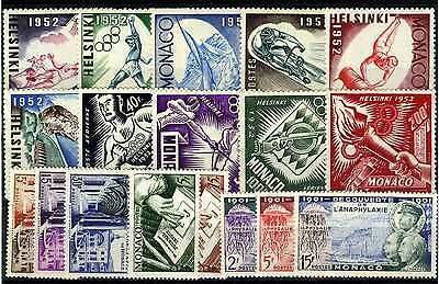 1952/53 MONACO ANNEES COMPLETES TIMBRES POSTE  + PA x