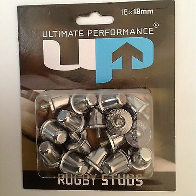 Ultimate Performance Aluminum Rugby Boot Studs 16 x18mm