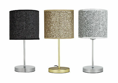 Argos Home Sparkling Table Lamp - Choice of Black / Silver / Gold