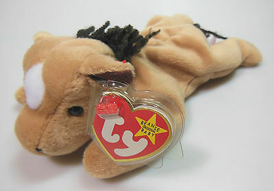"""Ty Beanie Baby, """"derby"""" The Horse, 1995, Original Adult Owned, Mint Condition #1"""