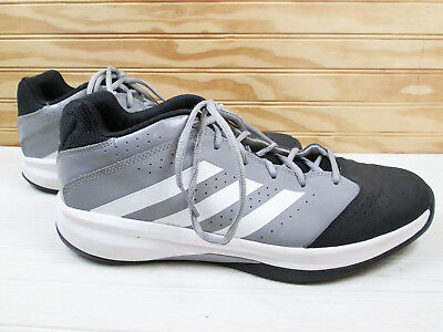 buy popular b45ed dea95 Adidas Isolation 2 Low Mens US 11 1 2 11.5 Basketball Shoes Sneakers Black  Gray