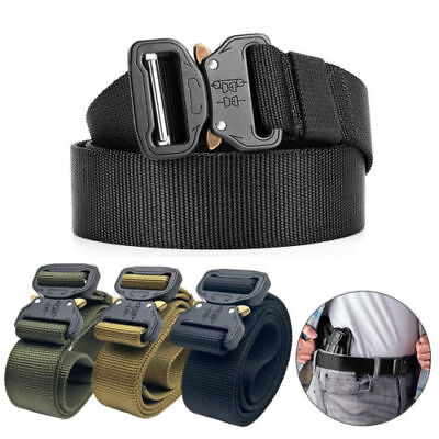 Adjustable Men Military Belt Buckle Combat Waistband Tactical Rescue Rigger Tool