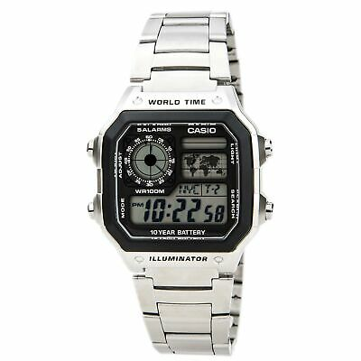 Casio Unisex Watch Classic Digital Dial Stainless Steel Bracelet AE1200WHD-1A