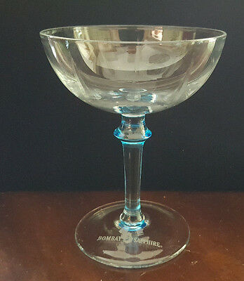 "BOMBAY SAPPHIRE Gin 5"" Coupe Style Martini Glass with Blue Stem"