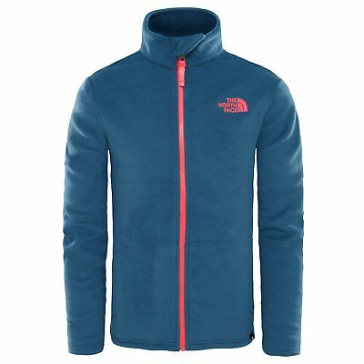 The North Face Snow Quest Full Zip Kids Jacket Fleece - Blue Wing Teal All  Sizes b2c9e17fca2a