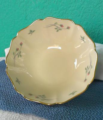 """Lenox Rose Manor Pattern Sm. Scalloped Bowl Hand Decorated 24kt Gold Trim 5 3/4"""""""