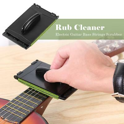 Electric Guitar Bass Strings Scrubber Rub Cleaning Maintenance Care Cleaner Kit