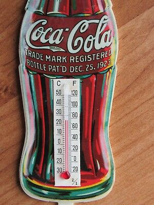 Old Coca Cola Bottle Thermometer