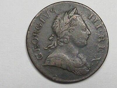1770 Great Britain Half Penny. King George III.  #17