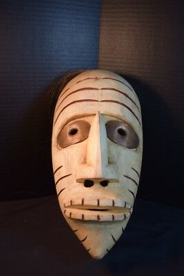"Vintage Iroquois ""False Face Society"" Wooden Mask"
