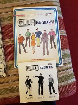 """Pulp """"mis-Shapes"""" Limited Promotional Cd Pack"""