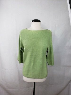 Coldwater Creek Green Sweeter with Wooden Buttons Size XS