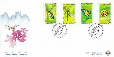 "H. K. 2000, ""hong Kong Insects"" Stamp Set On China Philatelic Association Fdc"