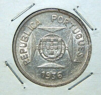Portuguese India - 1936 - 1/2 (Half) Rupia - Great Coin!