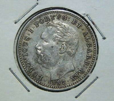 Portuguese India - 1882 - 1/2 (Half) Rupia - Great Coin!