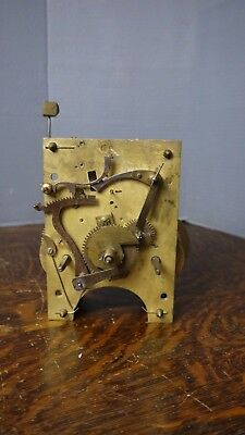 antique american 8 day weight driven tall case clock movement parts/repairs
