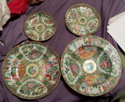 chinese rose medallion or mandarin 4 pieces export china