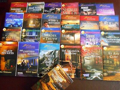 HARLEQUIN LOVE INSPIRED SUSPENSE Lot of (25) Free Shipping $143.00 retail