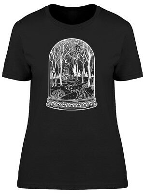 Glass Dome Jar Wood Cabin Women's Tee -Image by Shutterstock