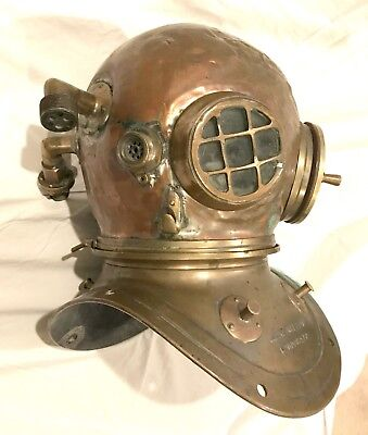 Real CE Heinke & Co London Antique Vintage WW2 Maritime Diving Helmet Full Size
