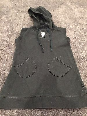 Fred Bare Black Fleece Hooded Vest Size 8