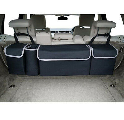 High Capacity Multi-use Car Seat Back Organizers Bag Interior Decor Black