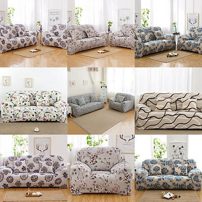 Stretch Sofa Couch Covers Slip Cover 1 2 3 4seater Elastic Fabric Lounge