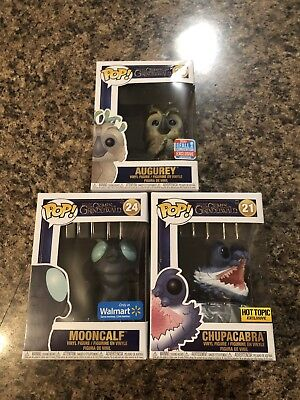 Fantastic Beasts And Where To Find Them Mooncalf, Augurey Chupacabra Exclusives