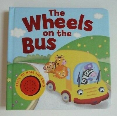 The Wheels On The Bus Sound Book Kids Ages 0 months+ Years New Christmas Gift