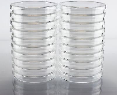EZ Bioresearch Sterile 100 mm X 15 mm Petri Dish with Lid, vented, 2 x Pa... New
