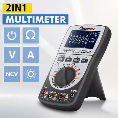Upgraded MUSTOOL MT8206 ET201 Intelligent Digital Oscilloscope Multimeter AC/DC