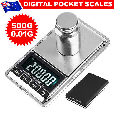 AU Best 500g 0.01g Mini Pocket Electronic Digital Scales Weight Gold Jewellery