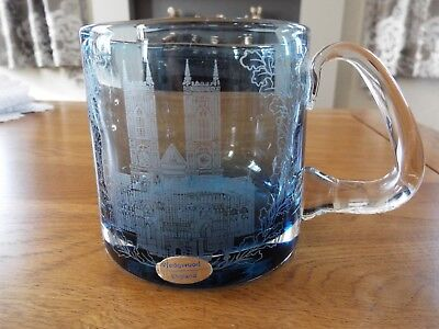 WEDGWOOD GLASS TANKARD 'Westminster Abbey' Coronation Anniversary 1953-1978