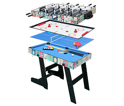 4 in1 Foldable Game Table Foosball Hockey Table Tennis Pool Table Xmas Gift
