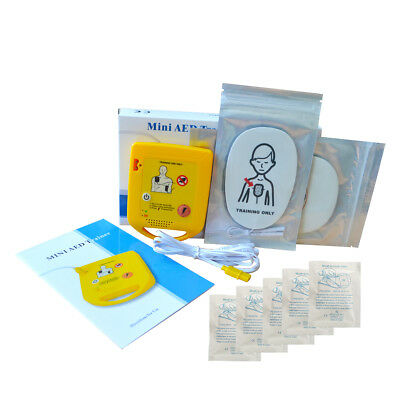 Mini AED Trainer First Aid Training Kit Training Device English+5Cpr Face Shield