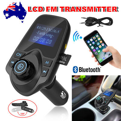 Bluetooth Wireless LCD Car MP3 FM Transmitter AUX USB Disk Handsfree Charger Kit