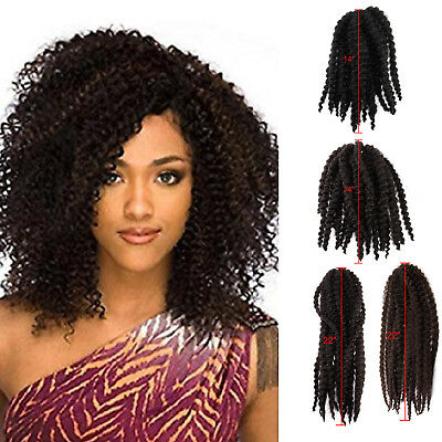 Crochet Braid 14 22 Afro Marley Twist Two Tones Braiding Hair