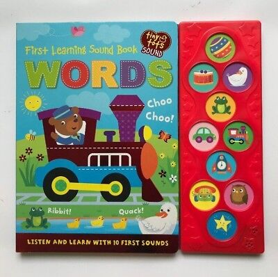 First Words Sound Book With 10 First Sounds Ages 0 months+ New Birthday Gift
