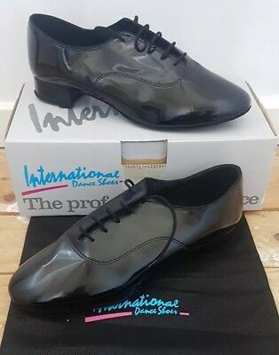 Dance Shoes Mens Boys Ballroom Latin Size 11 1/2 Wide Patent Style Tango Air