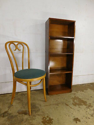 NICE Vintage Dark Pine Open Chair Side Bookcase Shelf Unit Display Fixed Shelves