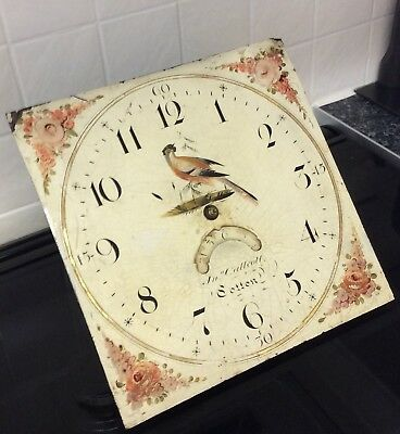 A Stunning Hand Painted Grandfather Clock Face And Movement +Callcott Of Bolton+