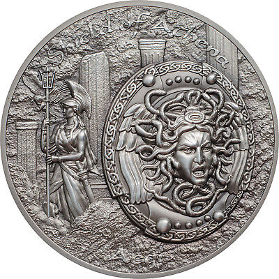 Cook Islands 2018 10$ Shield of Athena - Aegis 2oz Silver Coin