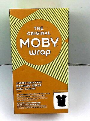 Moby Wrap Baby Carrier Bamboo NEW IN BOX Black The Original Moby Wrap