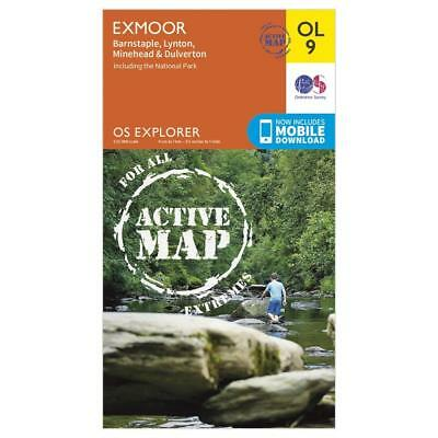 New OS Explorer Active Ol9 Exmoor Map Walking Hiking Guide Map